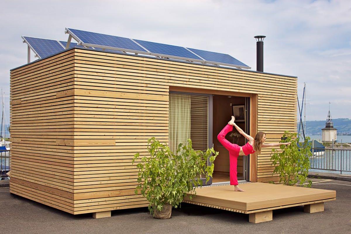 Szupermenő miniház a modern design szerelmeseinek