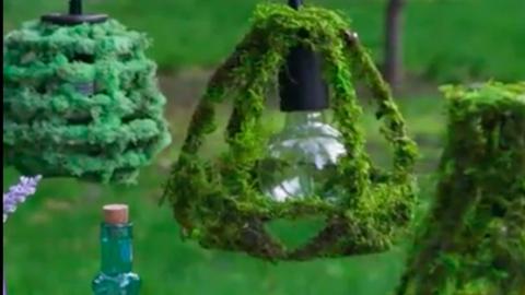 DIY: ütött-kopott lámpabúrából menő kerti dekor – videó