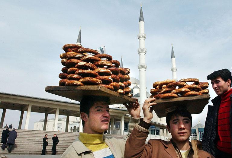 Bagel árusok Ankarában (Fotó: Ami Vitale/Getty Images)
