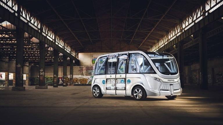 Így fog kinézni az önvezető busz. Fotó: P. Salomé