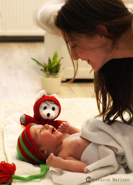 Első babafotók Sipos Lilla kisfiáról