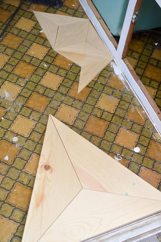 DIY: menő fapadló fillérekből