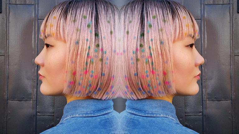 Konfetti mintás hajfestés az új frizuraőrület