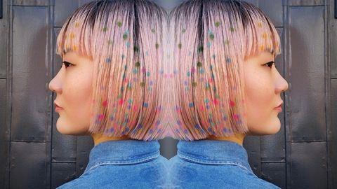 Konfettimintás hajfestés az új frizuraőrület