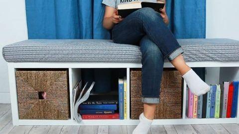 DIY: könyvespolcból menő olvasósarok
