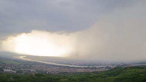 Félelmetes időjárási jelenség csapott le Esztergomra