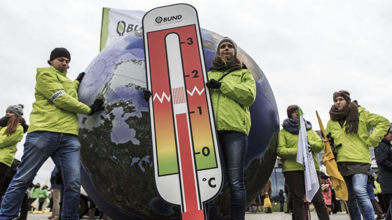 Egy berlini Climate March demonstráció résztvevői (Fotó: Getty Images)