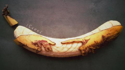 A banánoknak szentelte a művészetét egy férfi