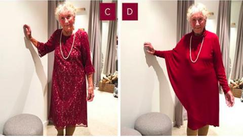 Az internet segítségét kérte a menyasszonyi ruhája kiválasztásában a 93 éves nagyi
