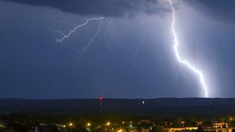 Hatalmas villámot fotóztak Nagykanizsán