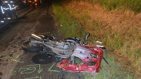 Motorossal ütközött egy autó Lövőnél
