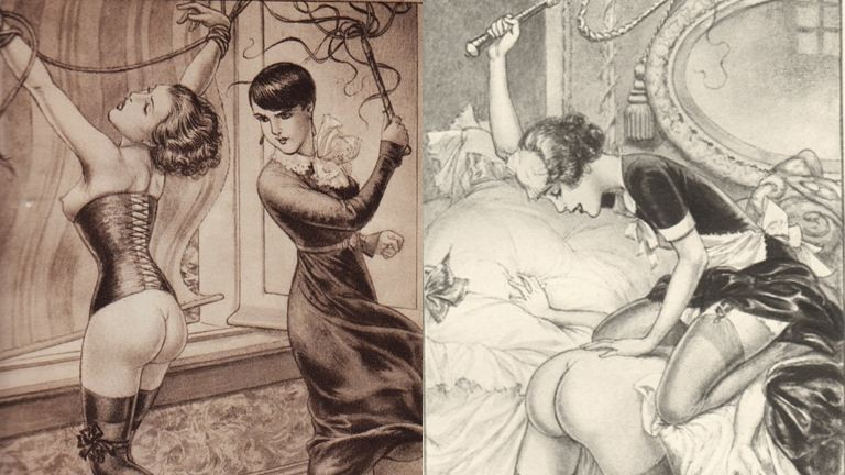 Kikötözés és ostor: erotikus rajzok fájdalomról, gyönyörről, leszbikus szexről