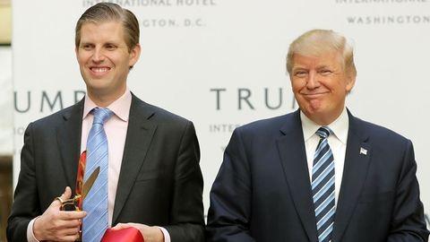 Rákos gyerekek pénzét tüntette el Donald Trump fia