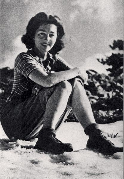 Christine Granville valahol a francia Alpokban (Fotó: Imperial War Museum)