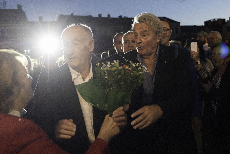 Alain Delon Kolozsvárra látogatott