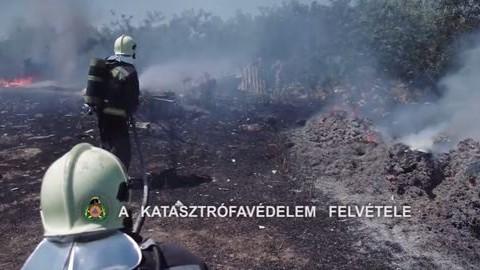 Két hétvégi ház és a tarló is lángolt Budapesten – videó