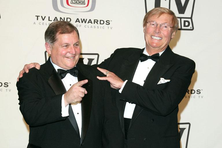 Burt Ward (b.) és Adam West (j.) 2006-ban, a legendás sorozat 40. jubileimi partiján (Fotó: Getty Images)