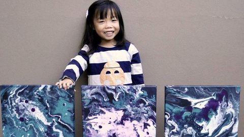 Káprázatos festményeket készít az 5 éves kislány