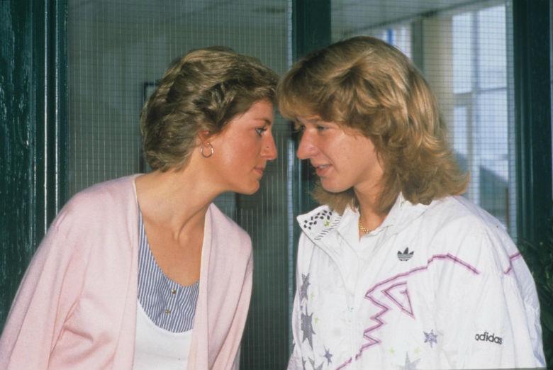 Steffi Graf és Diana hercegnő