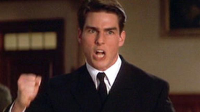 Tom Cruise mint elhivatott ügyvéd az Egy becsületbeli ügy című filmben