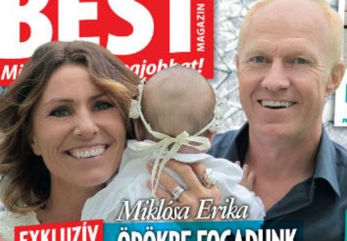 Miklósa Erika és Zsolt a BEST magazinnak mutatták meg, hogyan élnek Bíborkával