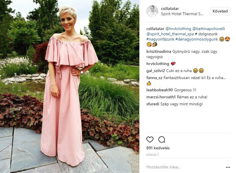 Tatár Csilla ruhája már a Magyarország Szépe felkészítő táborban is mesés volt