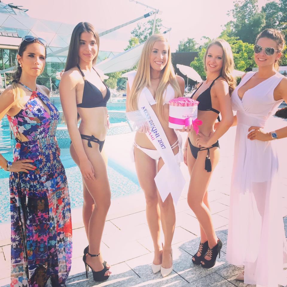 Rogán Cecília és Sarka Kata a Magyarország Szépe felkészítő táborban gratulált a Miss Bikini forduló győzteseinek