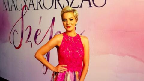 Tatár Csilla álomszép ruhában vezeti a Magyarország Szépét