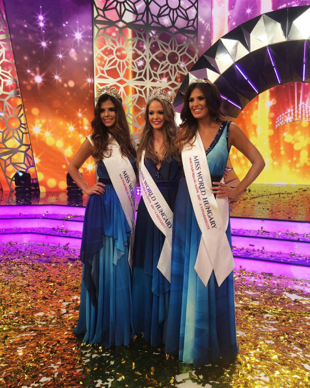 Miss World Hungary 2017 győztese, Koroknyai Virág és az udvarhölgyei,