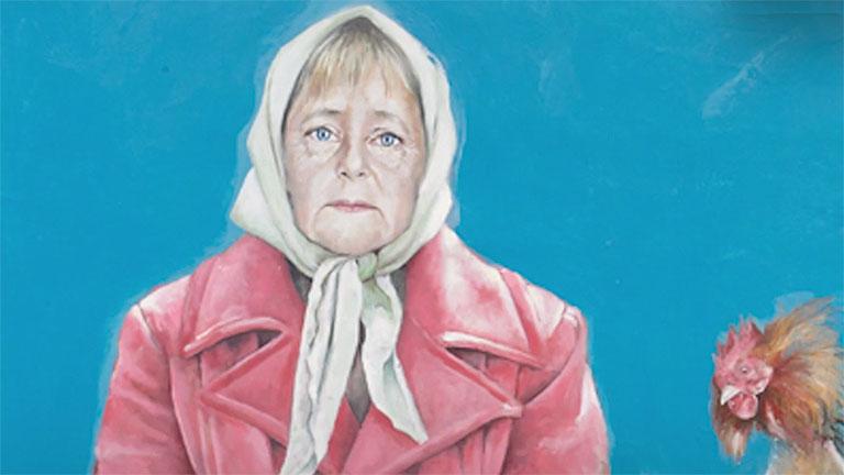 Angela Merkel Al Omari sorozatában (Fotó: CNN)
