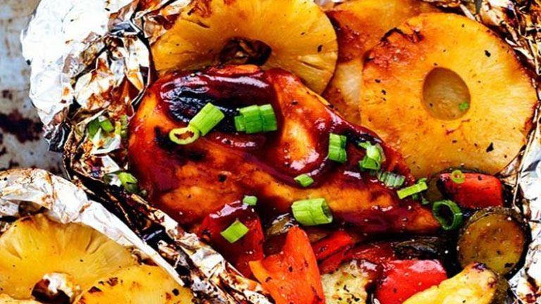 Fóliában sült hawaii csirke