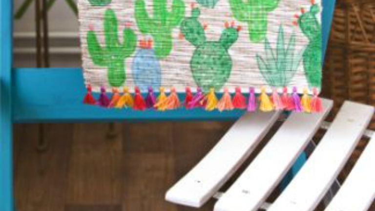 DIY: egyszerű kaktuszos asztali futó