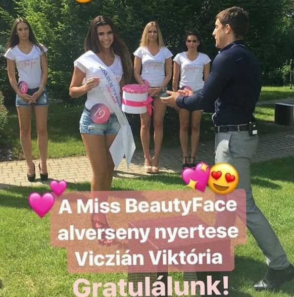 Miss Beauty Face alversenyen is első lett Viczián Viktória, aki a nézők kedvenc indulója volt