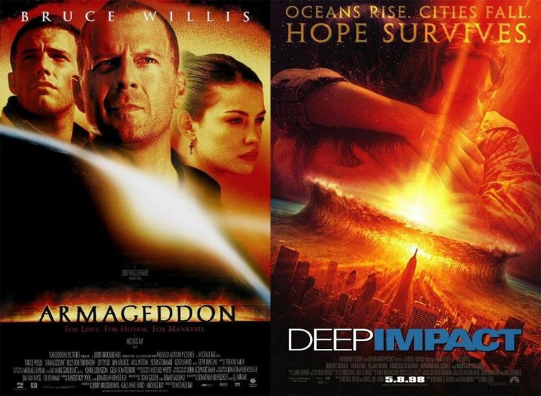1998-ban mindenkit el akartak pusztítani a meteorok, még szerencse, hogy itt volt Bruce Willis és Morgan Freeman (Fotó: Tumblr)