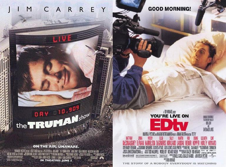 Jim Carrey nagyot durrantott a Truman Show-val. Az EDtv kevésbé nagyot... (Fotó: Tumblr)