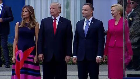 Kamerák előtt alázta meg Donald Trumpot a lengyel first lady