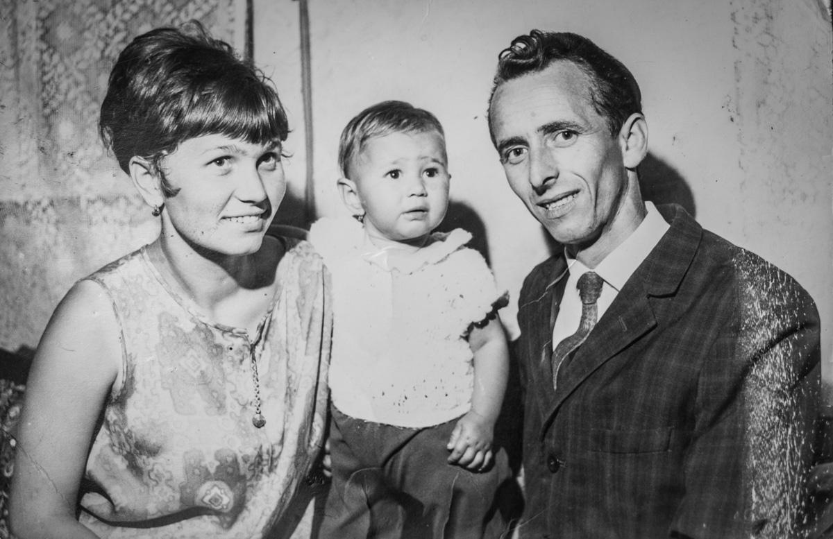 Bernadett és szülei