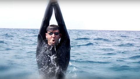 Michael Phelps egy cápával versenyzett