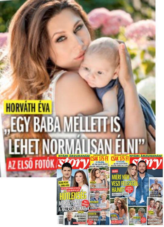 A Story dupla címlapos számában mutatta meg Horváth Éva a kisfiát
