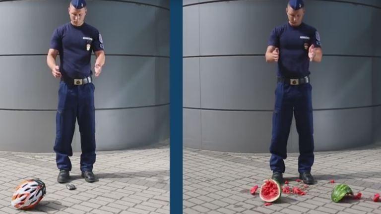 Durva dinnyés videóval ijesztget a rendőrség