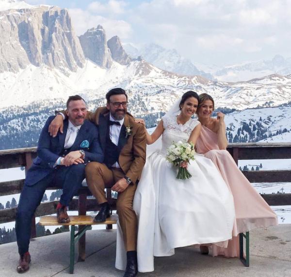 Gianni és Zita a Dolomitokban házasodtak össze