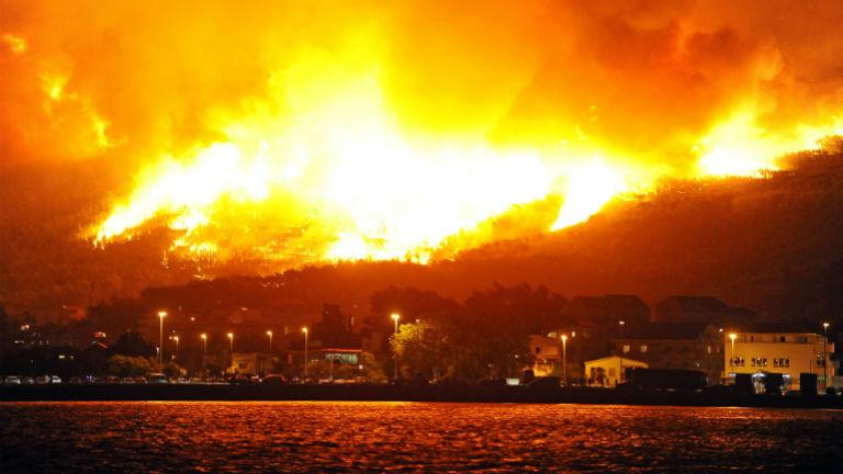 Lassan már minden lángol Split körül