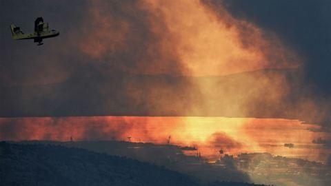 Split megmenekült, sikerült megfékezni a pusztító tüzet
