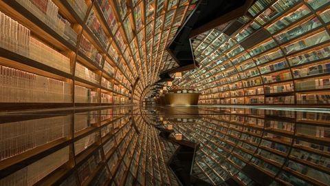 A könyvmolyok paradicsoma ez a végtelenbe nyúló könyvalagút