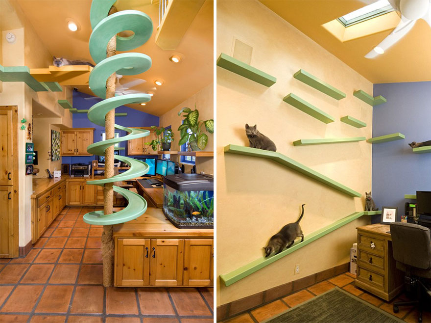 Macskabútorok, amiért megőrülnek a cicák