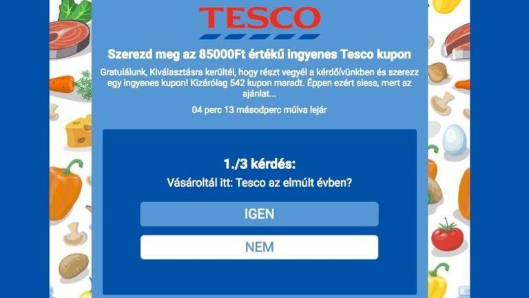 Vigyázz! Netes átverés terjed a magyar Tesco nevében