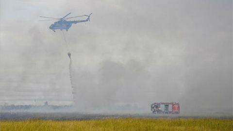 Megfékezték a tüzet a Hortobágyon, ezer hektárnyi terület égett le