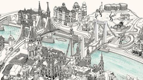 Az egész világon ismerik a magyar építész-grafikus mesebeli térképeit