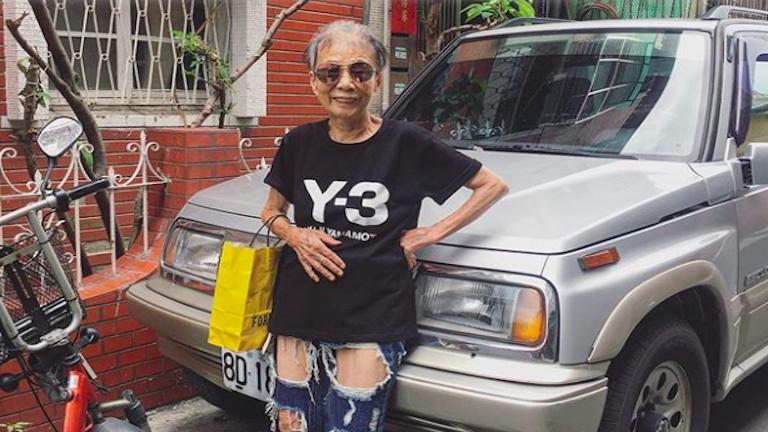 A street style királynője a 88 éves néni