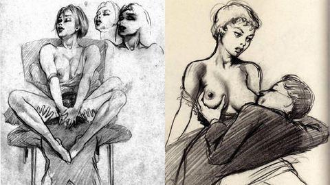 Nyalás és önkielégítés: mocskos rajzok egy vázlatfüzetből